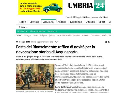 16 maggio 2016 - Umbria24