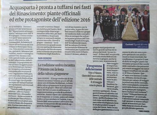 20 aprile 2016 - Nuovo Corriere Nazionale