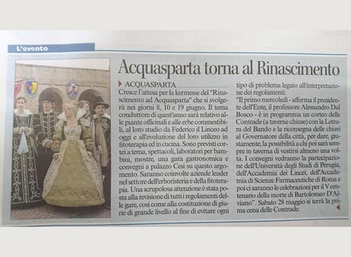 26 aprile 2016 - Corriere dell'Umbria