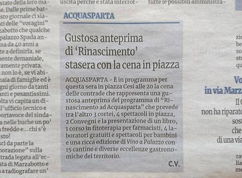 28 maggio 2016 - Nuovo Corriere Nazionale