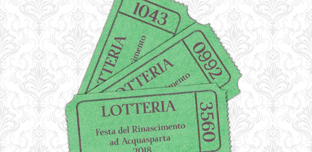 Biglietti estratti lotteria 2018