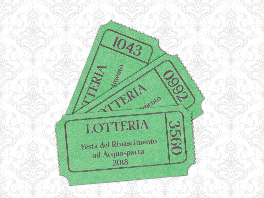 Estrazione Biglietti Vincenti Lotteria 2018